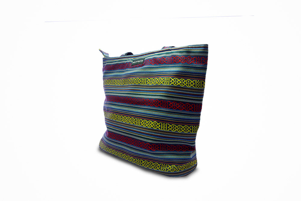 Organic blue yellow Sling bag