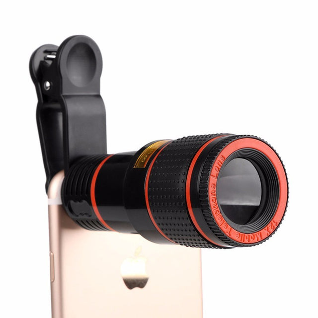 Fortune Digital HD Mobile Phone Telescope Lens 12X Zoom with Clips For smart phones