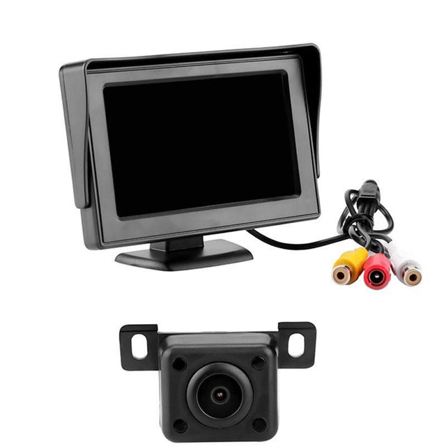 "Fortune Digital 4.3"" TFT LCD Rear View Display Monitor Kit with IR Night Vision LED"