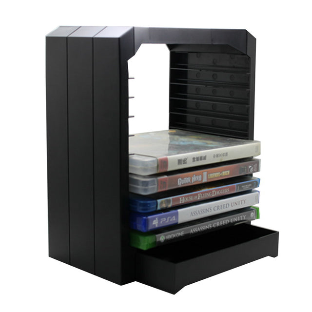 Multifunctional Universal Games & Blu Ray Discs Storage Tower