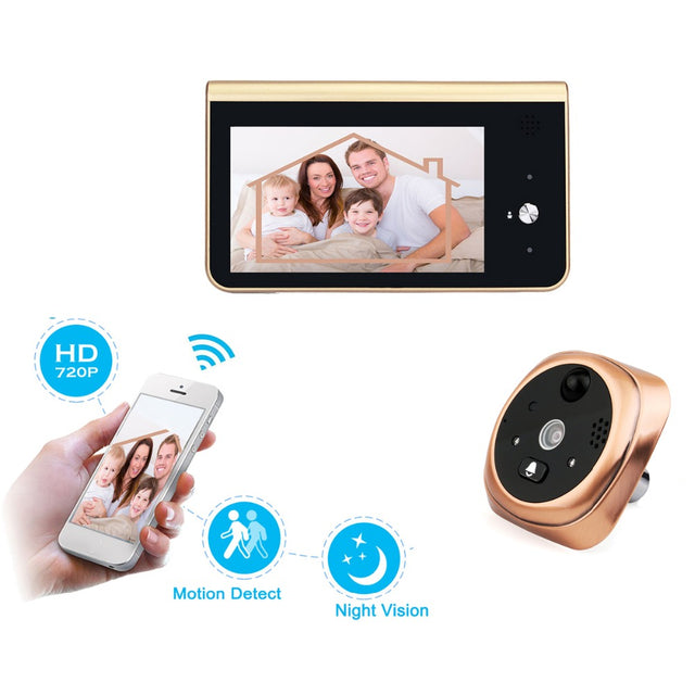 Smart Video Doorbell PIR Motion Detection 720P HD Camera With Night Vision & APP Control for iOS and  Android