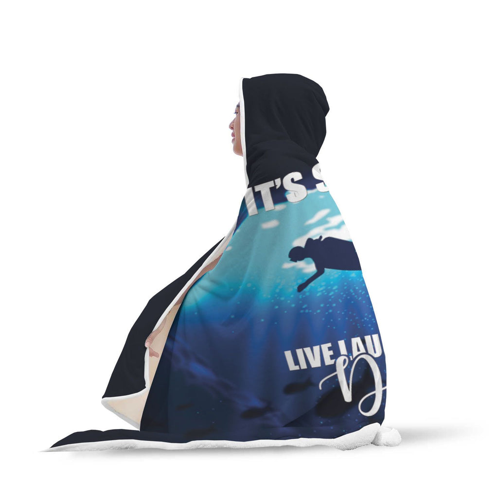 Live Laugh Love Dive! Hooded Blanket
