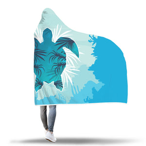 Sea Turtle Hooded Blanket - Perfenq