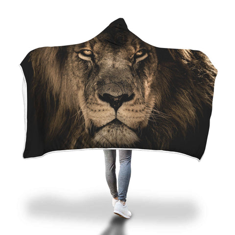 Image of Fearless Lion Hooded Blanket - Perfenq