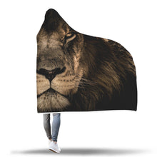 Load image into Gallery viewer, Fearless Lion Hooded Blanket - Perfenq