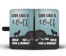 Load image into Gallery viewer, Live Like a Wolf Phone Wallet Case - Perfenq