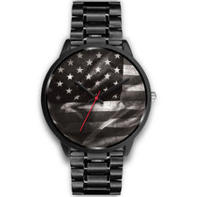 Load image into Gallery viewer, USA Black Custom Stainless Steel Watch - Perfenq