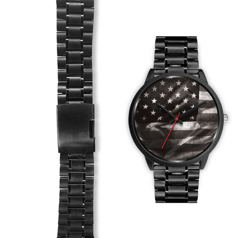 Image of USA Black Custom Stainless Steel Watch