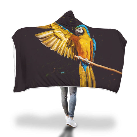 Image of Beautiful Parrot Hooded Blanket