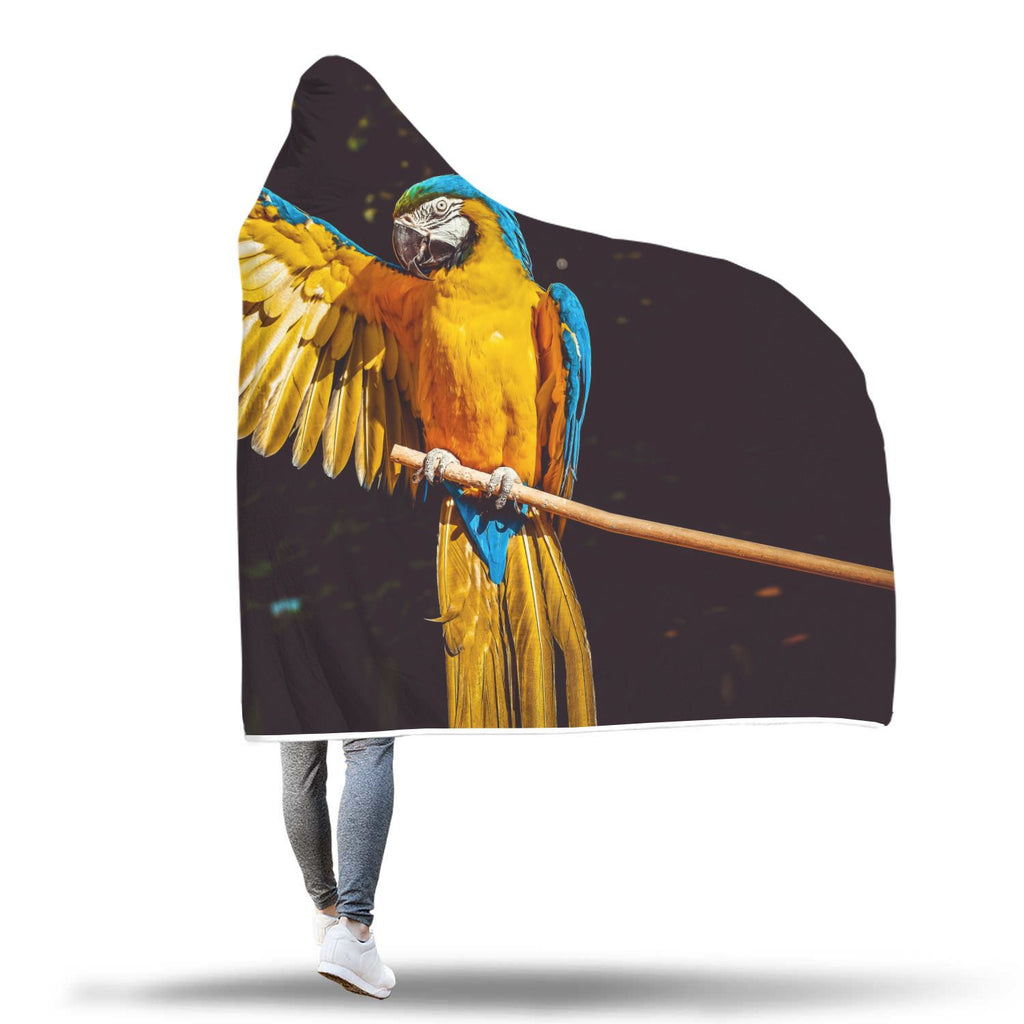 Beautiful Parrot Hooded Blanket