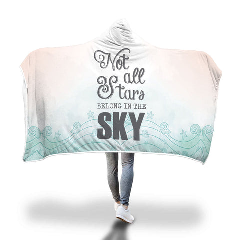 Not All Stars Belong In the Sky Hooded Blanket - Perfenq