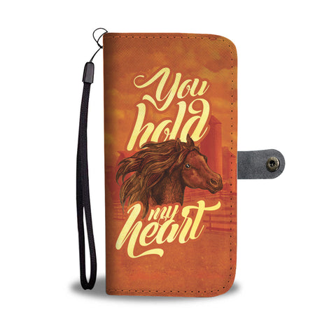 Image of You Hold My Heart Horse Lovers Phone Wallet Case - Perfenq