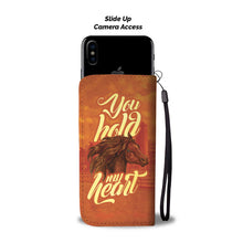 Load image into Gallery viewer, You Hold My Heart Horse Lovers Phone Wallet Case - Perfenq