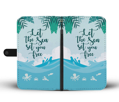 Let The Sea Set You Free Phone Wallet Case - Perfenq