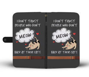 Meow Cat Lovers Phone Wallet Case