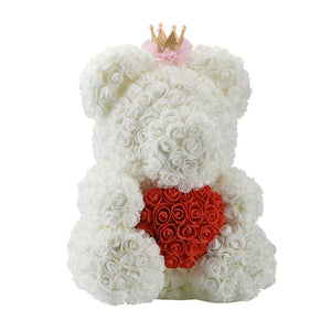Rose Teddy Bear with Heart - Perfenq