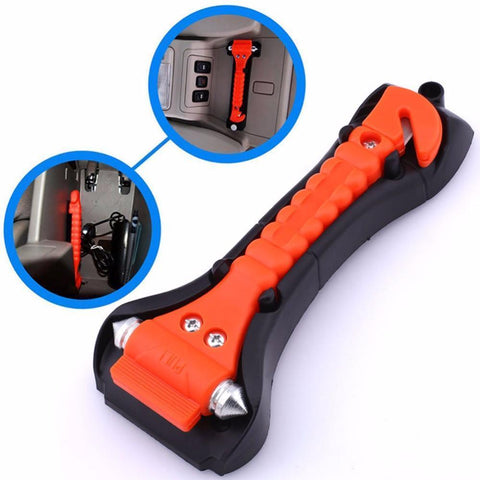 Car Safety Hammer with Seat Belt Cutter - Perfenq