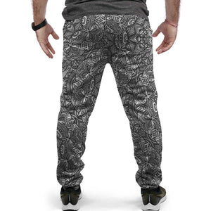 Grey Custom Designed Joggers - Perfenq