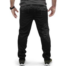 Load image into Gallery viewer, Black Geometry Custom Made Joggers - Perfenq