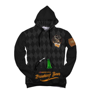 Drinking Beer Custom Designed Hoodie - Perfenq