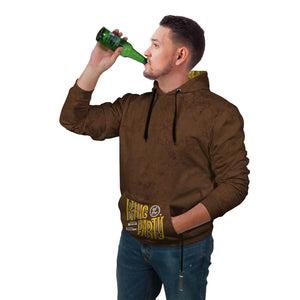 Brown & Yellow Beer Hoodie - Perfenq