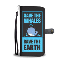 Load image into Gallery viewer, Save The Whales Phone Wallet Case