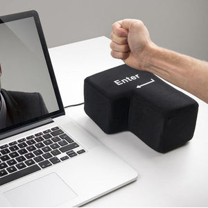 Giant Enter Button - Anti Stress Button USB Pillow - Perfenq