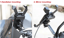 Load image into Gallery viewer, Universal Motorcycle Phone Mount With USB Charger - Perfenq