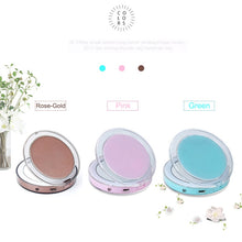 Load image into Gallery viewer, LED Light Portable Makeup Mirror with Sensors - Perfenq