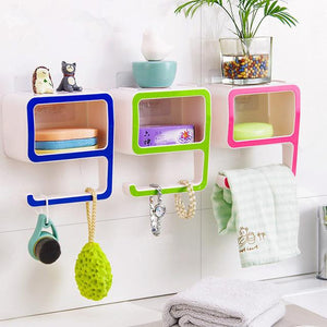 Multi-Purpose 9 Shaped Sticky Storage Rack - Perfenq