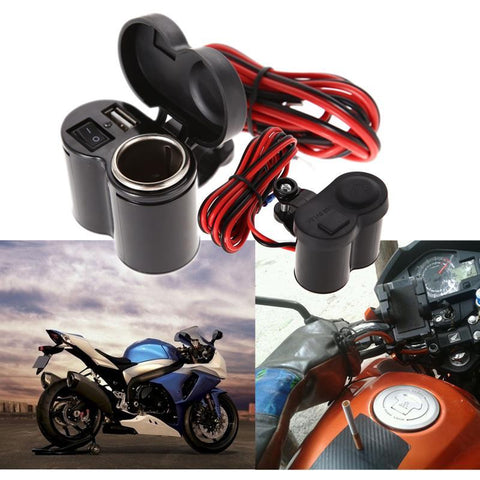 Image of Universal Motorcycle USB Charger with Switch
