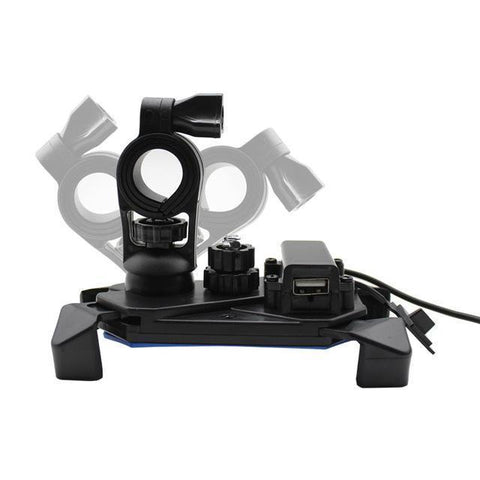 Image of Universal Motorcycle Phone Mount With USB Charger - Perfenq