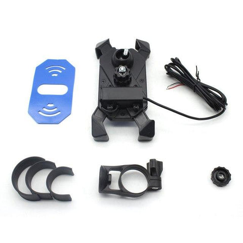 Universal Motorcycle Phone Mount With USB Charger