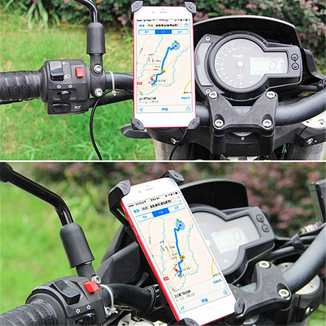 Universal Motorcycle Phone Mount With USB Charger - Perfenq