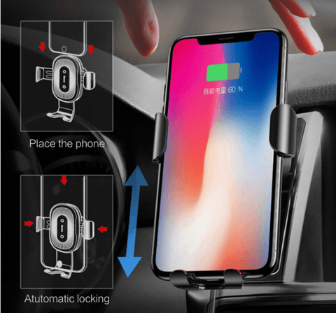 Qi Fast Wireless Charger Car Mount (Top-Selling) - Perfenq