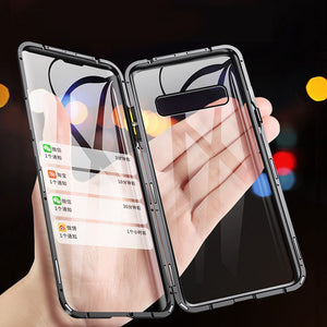 Magnetic Case for Samsung Galaxy (Double Sided) - S10 Plus, S9, S8, Note 9, 8 - Perfenq