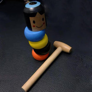 Wooden Stubborn Man Toy - Perfenq