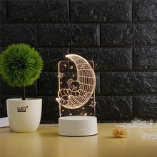 Load image into Gallery viewer, 3D Transparent LED Night Lamps