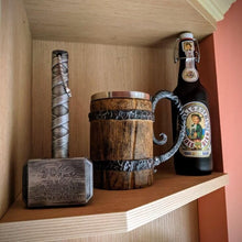Load image into Gallery viewer, Wood Beer Mug For Christmas