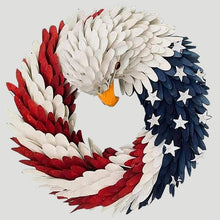 Load image into Gallery viewer, DIY American Eagle Wreath