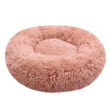 Load image into Gallery viewer, Calming Comfy Faux Fur Round Dog Bed