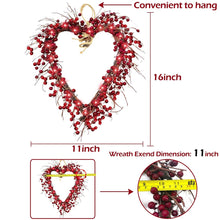 Load image into Gallery viewer, LED Heart Shaped Wreath For Valentines Day