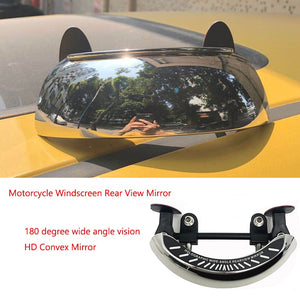 Motorcycle Windscreen 180+ Degree Blind Spot Mirror Wide Angle Rearview Mirrors