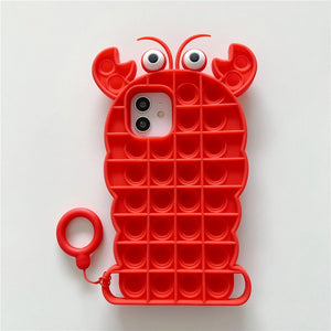 Pop It Fidget iPhone Case For Relieving Stress