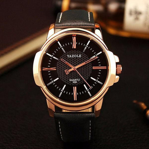 Image of Rose Gold Wrist Watch for Men - Perfenq