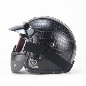 Premium Pu Leather Helmet - Perfenq