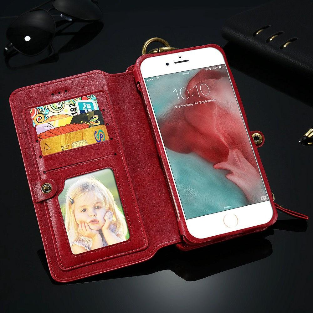 8 in 1 Multi-Function iPhone Wallet Case - Perfenq