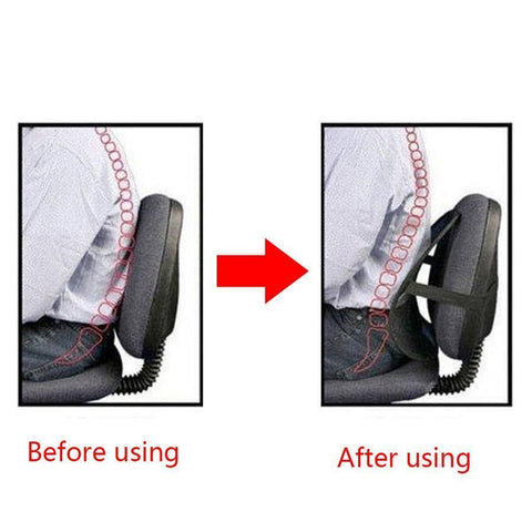Image of Breathable Mesh Lumbar Support for Car Seat or Office Chair - Perfenq