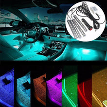 Load image into Gallery viewer, Universal Car Interior RGB LED Lights with Remote Control - Perfenq