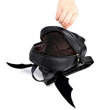 Load image into Gallery viewer, Bat Wings Backpack - Small Black Purse - Perfenq